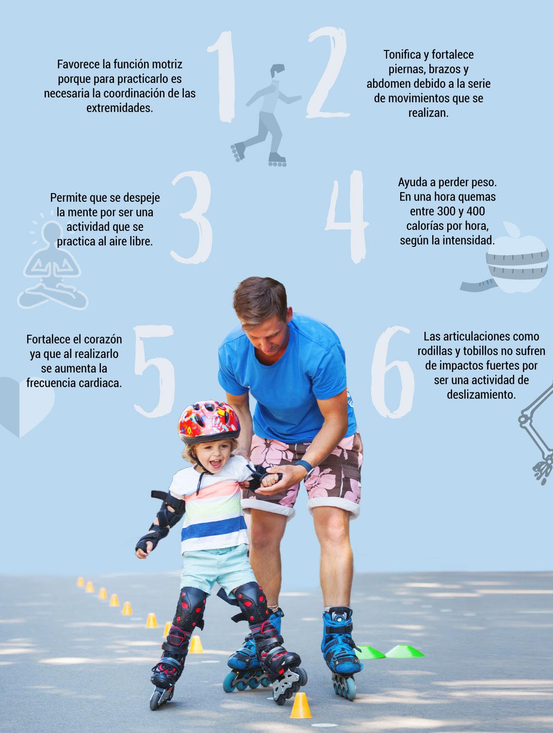 Diviértete sobre ruedas y conoce los beneficios de patinar