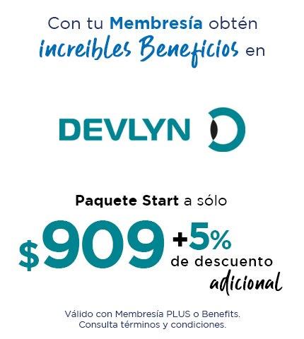 Paquete Start a sólo $909 MXN. +5% de descuento adicional.