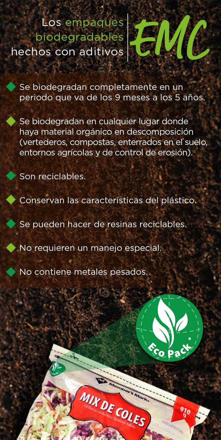 Cuidamos el medio ambiente con un empaque 100% biodegradable