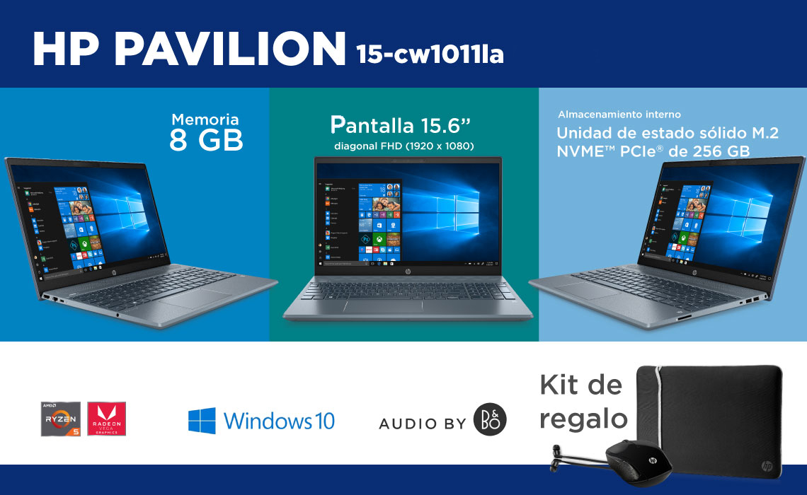 Laptop HP Pavilion 15 La computadora que se adapta a tu estilo de vida