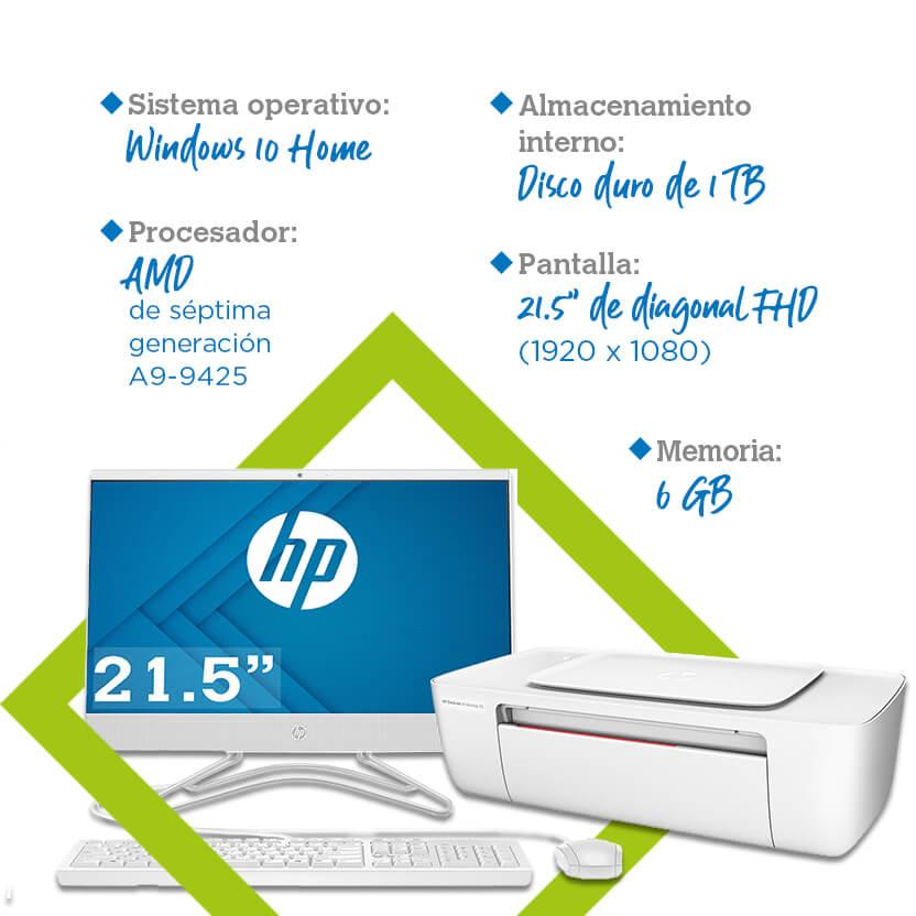 Laptop HP All in One 22-c005la + impresora