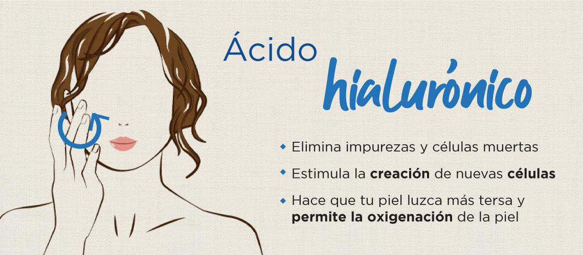 Ácido hialurónico. Estimula la creación de nuevas células