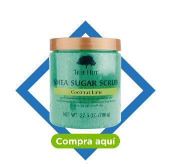 Tree hut. Shea sugar scrub, coconut lime