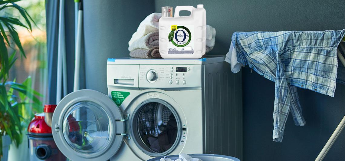 jabón Downy en cuarto de lavado