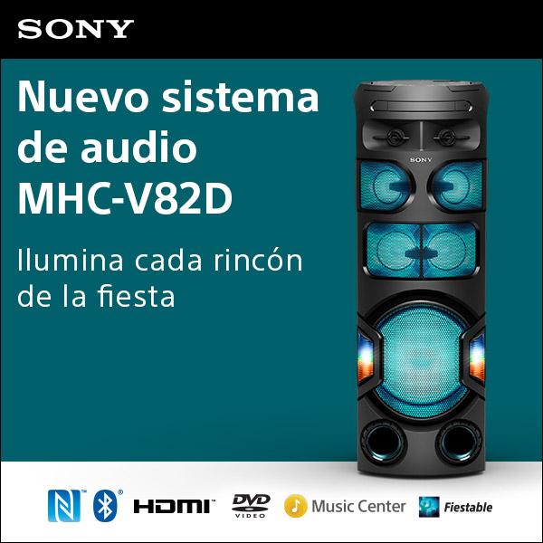 Anuncio: Nuevo sistema de audio MGC-V72D Sony - Expandido
