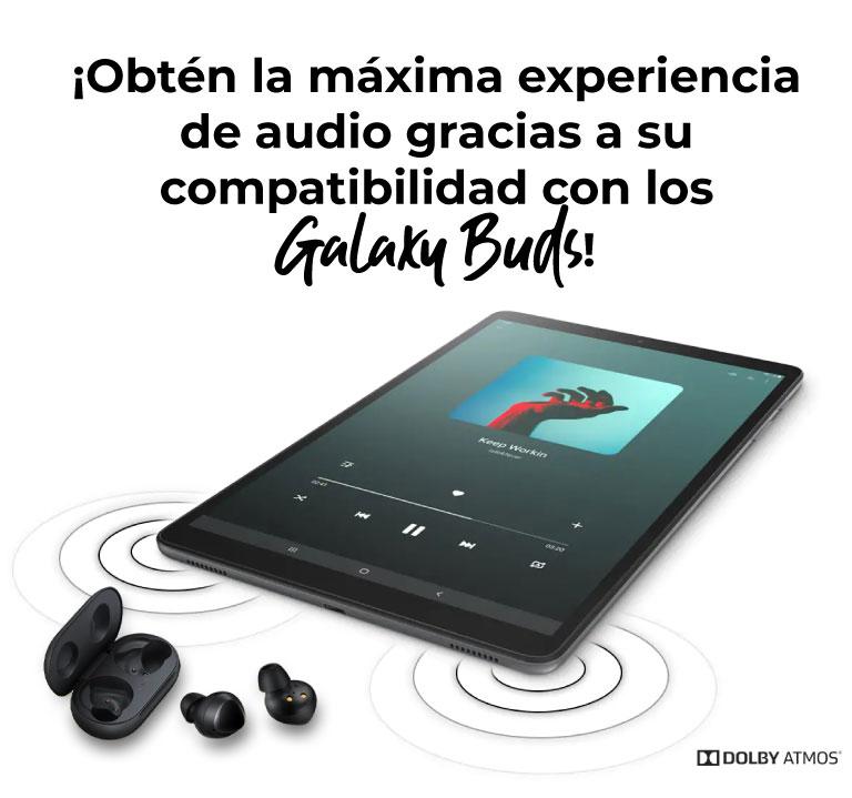 ¡Obtén la máxima experiencia de audio gracias a su compatibilidad con los Galaxy Buds!