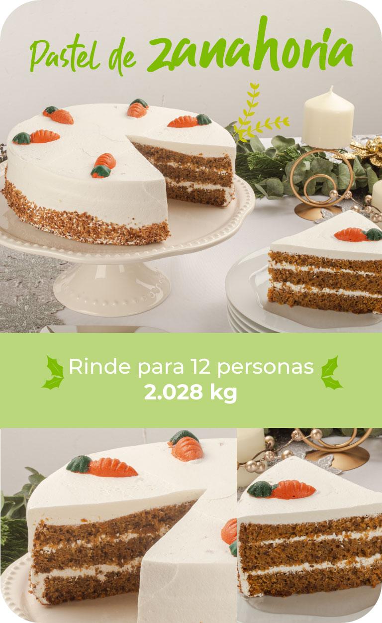 pastel de zanahoria. rinde para 12 personas. 2.028 kg