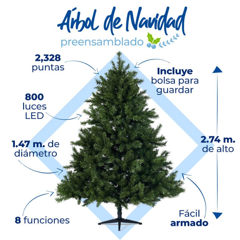 La mejor tecnología en árboles de Navidad