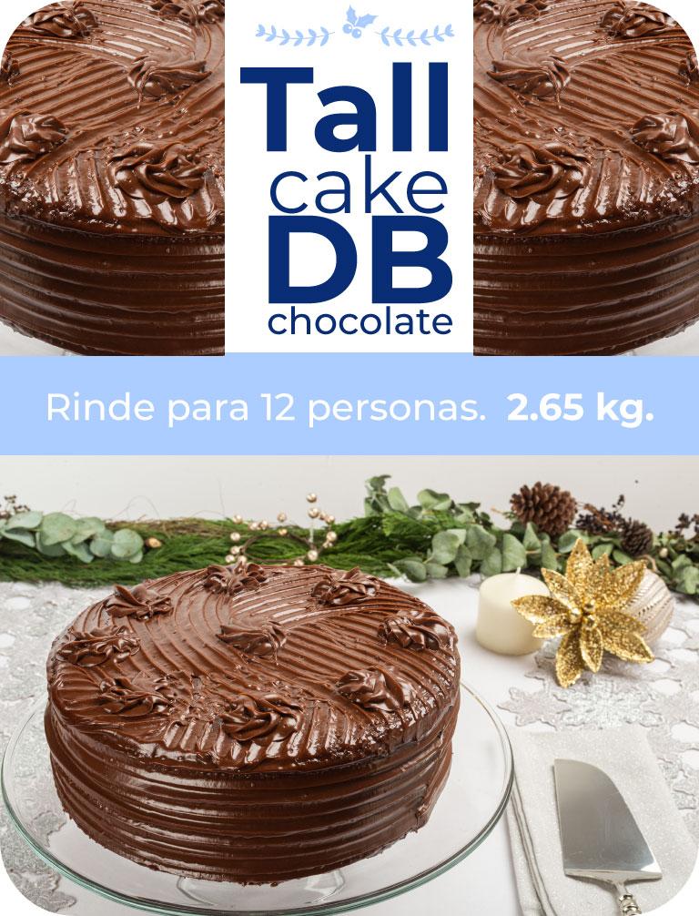 Tall cake DB chocolate. rinde para 12 personas. 2.65 kg