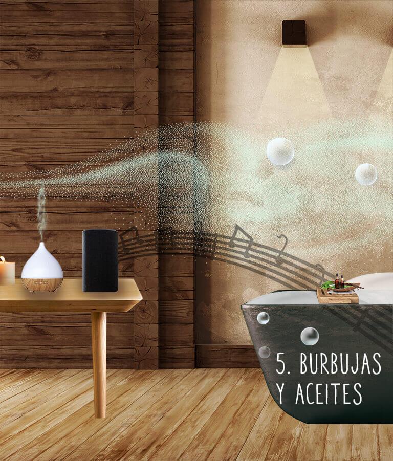 5. Burbujas y aceites