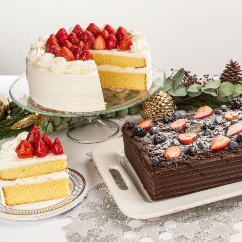 mesa con diferentes tipos de pasteles