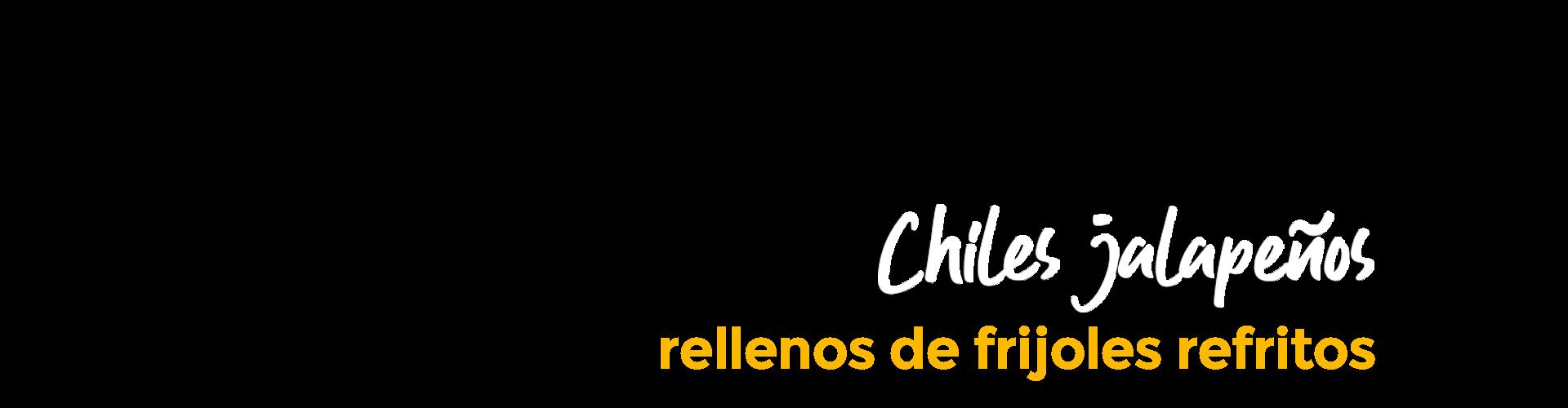 Receta de chiles jalapeños rellenos de frijoles refritos