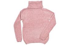 Suéter rosa cuello de tortuga
