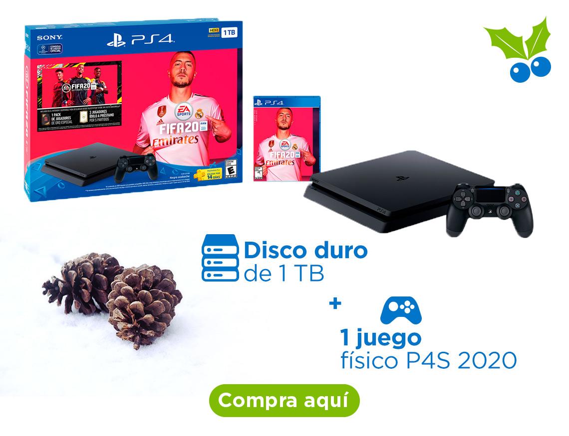 PlayStation 4  Disco duro de 1 terabyte  Incluye 1 juego físico P4S 2020