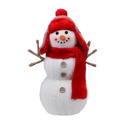 Muñeco de nieve con gorro