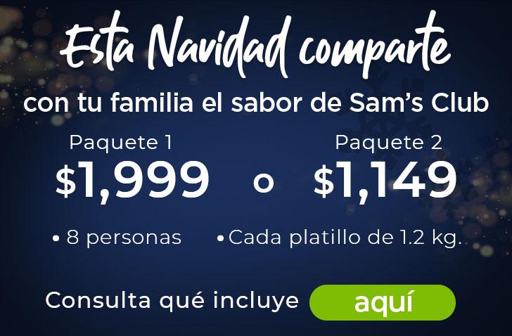comparte con tu familia paquete de comida sam's club