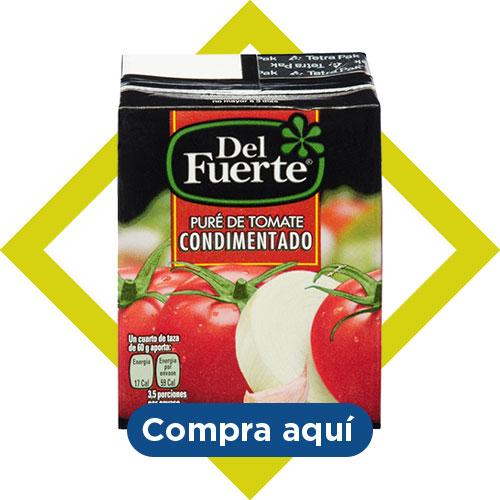 Del Fuerte, Puré de tomate condimentado. compra aquí
