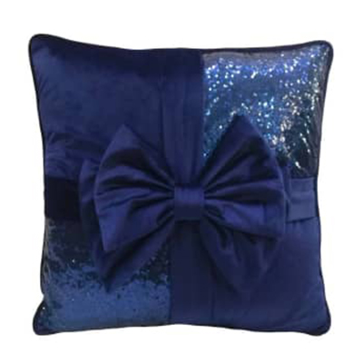 Cojín regalo azul