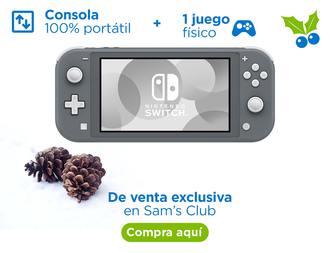 Nintendo Switch: Consola 100% portátil + 1 juego físico De venta exclusiva en Sam's Club