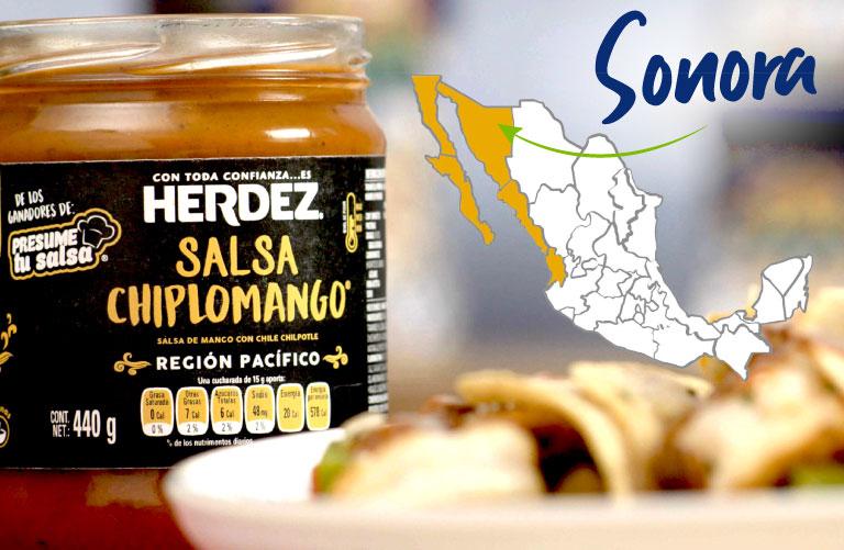 Salsa Chiplomango, región pacífico, Sonora