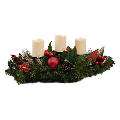 Portavelas navideño