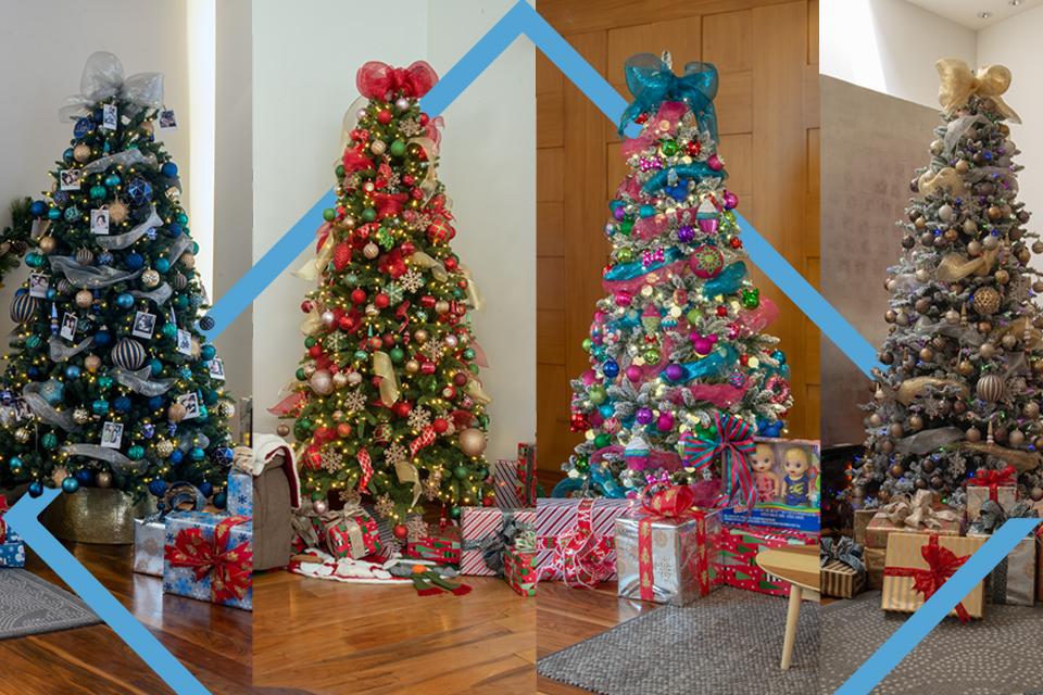 4 árboles de navidad