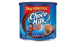Chocolate en polvo, lata 2 kg. Chocomilk