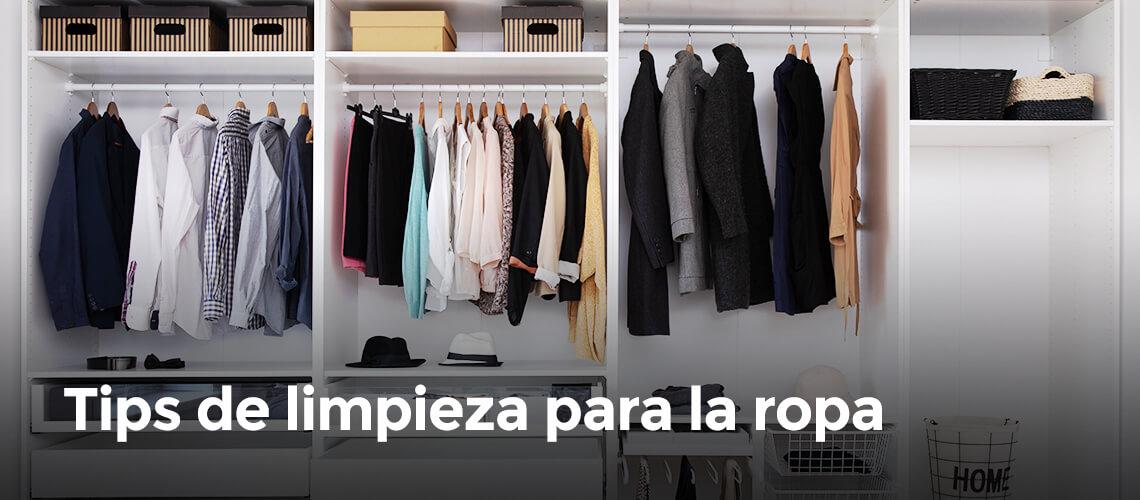 Tips de limpieza para la ropa