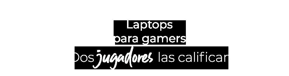 Laptops para gamers. Dos jugadores las califican