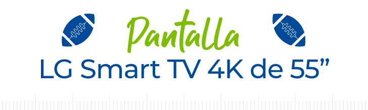 Pantalla LG Smart TV 4K de 55""