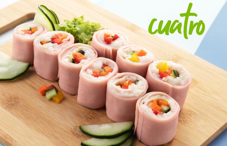 Sushi de jamón