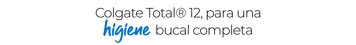 Colgate Total® 12 con Flúor, para una higiene bucal completa
