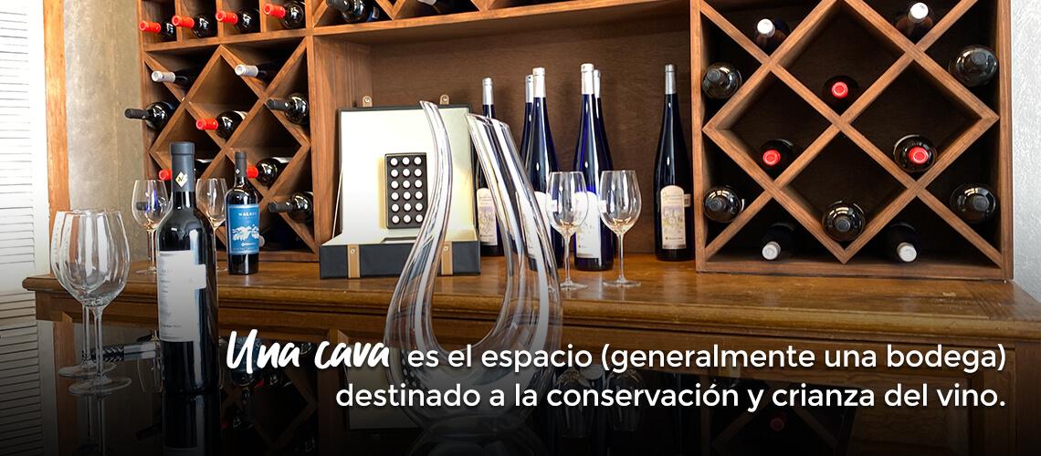 Una cava es el espacio (generalmente una bodega) destinado a la conservación y crianza del vino.