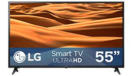 Pantalla 55 pulgadas, AI ThinQ, 4K Smart TV. LG.