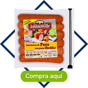 Salchicha de pavo con cheddar, 383 g,