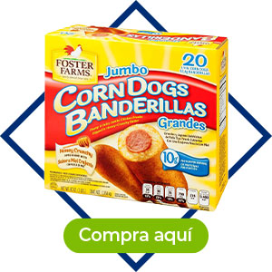 Corn dog de pollo, 20 pzas Foster Farms