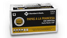 Papas a la francesa Member's Mark  13.6 kg.
