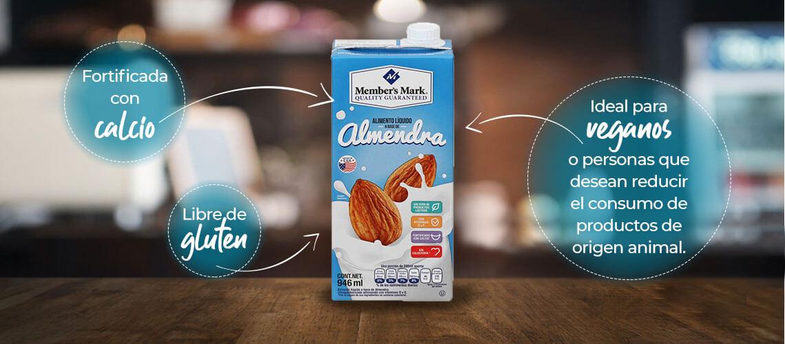 ideal para veganos o personas que desean reducir el consumo de productos de origen animal. Ofrece 50% más de calcio Libre de gluten