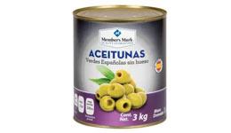 Aceituna verde sin hueso, 3 Kg. Member's Mark