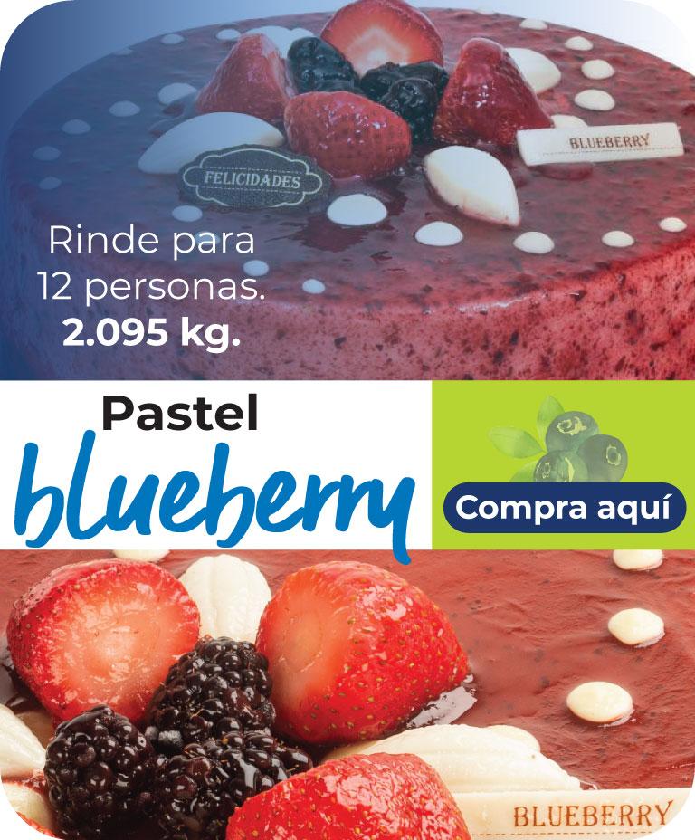 Pastel blueberry, Rinde para 12 personas. 2.095 kg.