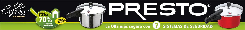 Superbanner Presto-Vasconia Olla de presión Presto Express