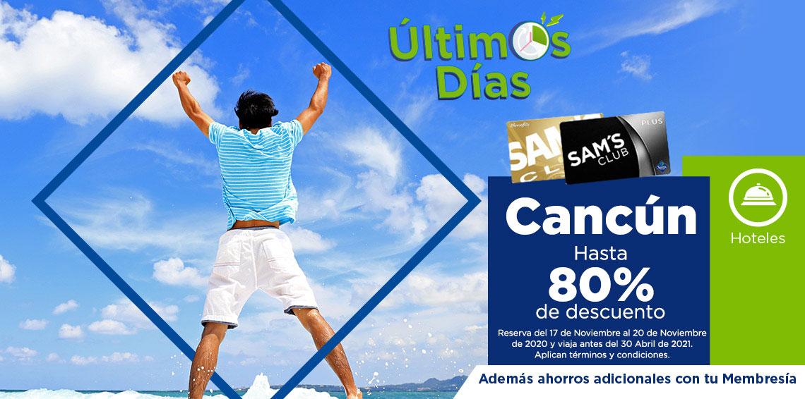 Cancun hasta 80% de descuento