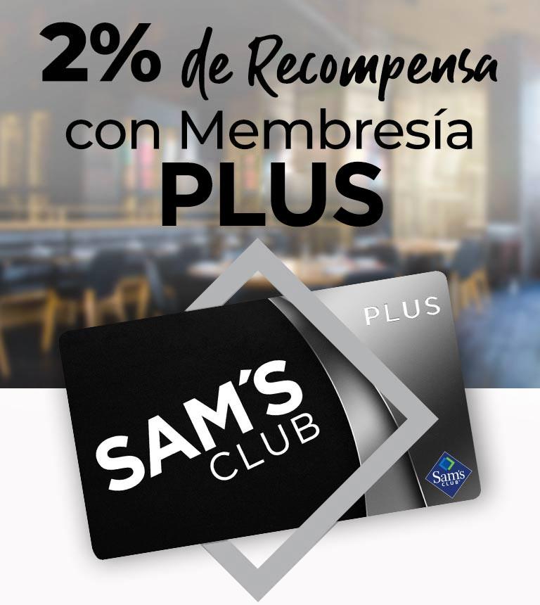 2% de Recompensa con tu Membresía PLUS