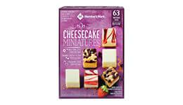 Mini Cheesecake, 63 pzas Member's Mark