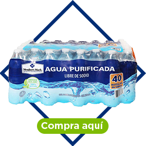 Agua purificada, 40 pzs de 500 ml. Member's Mark