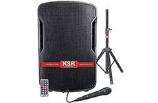 Bafle de 15 pulgadas y micrófono. KSR