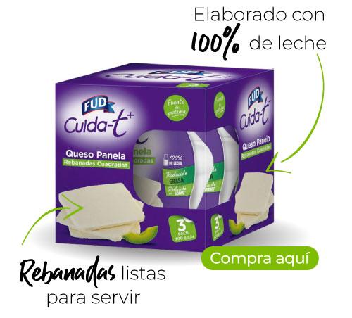 Queso panela Fud -Rebanadas listas para servir -Elaborado con 100% leche