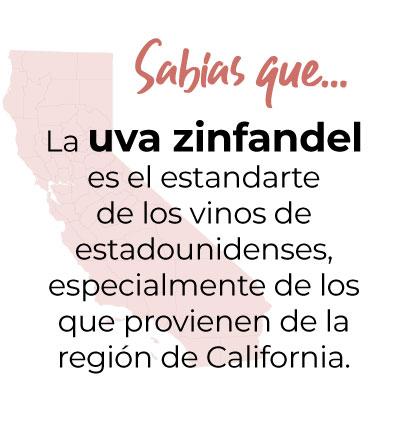 La uva zinfandeles el estandartede los vinos de estadounidenses, especialmente de los que provienen de la región de California.
