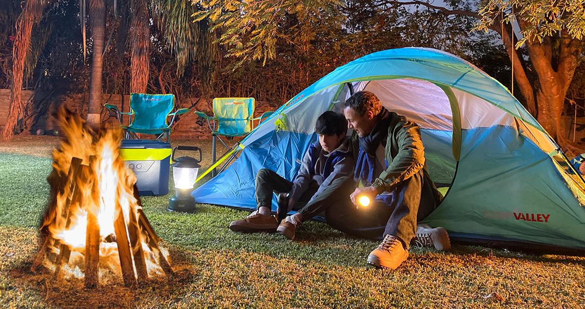 fogata en campamento
