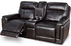 Love Seat reclinable, negro, piel. Member's Mark